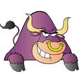 Purple Bull vector image vector image
