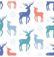 scandinavian deer christmas hand drawn doodles vector image vector image