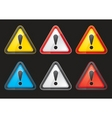 set hazard warning attention sign color vector image vector image