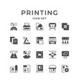 set icons printing vector image
