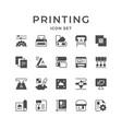 set icons printing vector image vector image
