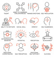 Set of icons related to business management - 20 vector image vector image