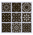 set pattern black vector image