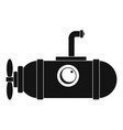 small submarine icon simple style vector image vector image