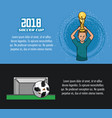soccer tournament infographic vector image vector image