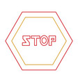 stop road sign icon vector image vector image