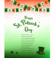 stpatricks day backgrounddesign with vector image vector image