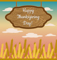 thanksgiving day in canada wheat sheaves wooden vector image