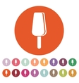The ice cream icon Dessert and popsicle vector image vector image