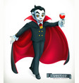vampire happy halloween 3d icon vector image
