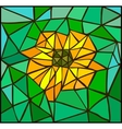 Vitrage flower vector image