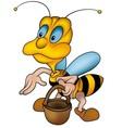 Wasp And Handbasket vector image vector image