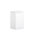 White box with empty label 3d object vector image