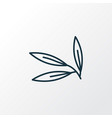 willow leaf icon line symbol premium quality vector image