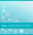 winter blue background with white snowflakes vector image vector image