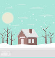 winter snowy landscape vector image