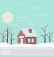 winter snowy landscape vector image