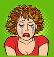 woman crying human emotions vector image