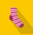woman sock icon flat style vector image