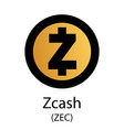 zcash cryptocurrency symbol vector image vector image