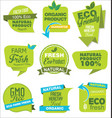 modern eco and natural origami sale stickers and vector image