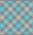 gray blue diagonal checkered plaid seamless vector image