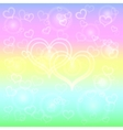 abstract pastel background with hearts vector image