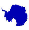 antarctica silhouette map vector image