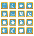 apple icons azure vector image vector image