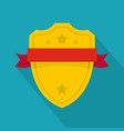 badge warrior icon flat style vector image vector image