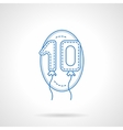 Balloon numbers blue line icon vector image vector image