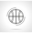 Basketball ball flat line design icon vector image