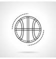 Basketball ball flat line design icon vector image vector image