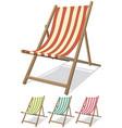 beach chair set vector image vector image