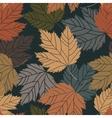 Beautiful vintage tree leaves seamless vector image vector image