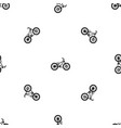 bike pattern seamless black vector image vector image