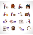 Blacksmith Icons Set vector image vector image
