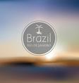 brazil beach blurry landscape vector image vector image