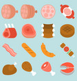 butcher product icon from chicken vector image