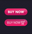 buy now buttons for web vector image vector image