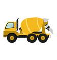 cemet truck vehicle vector image vector image