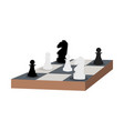 chess table knight and pawn flat isolated vector image