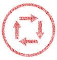 Circulation arrows fabric textured icon