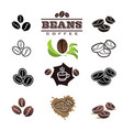 collection coffee design elements vector image