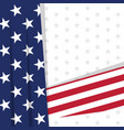 colored background with the flag of united states vector image vector image