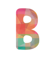 Colorful alphabet B vector image