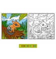 coloring book for children numbat vector image vector image