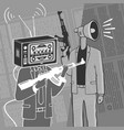 concept propaganda weapon vector image vector image