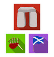 country scotland flat icons in set collection for vector image vector image