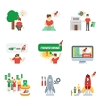 Crowdfunding Icons Set vector image vector image